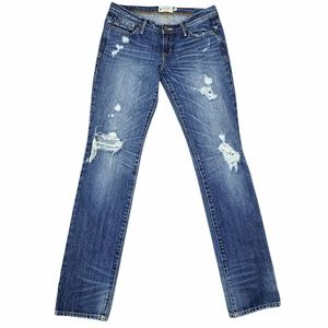 Abercrombie & Fitch Blue Distressed Low Rise Jeans